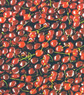 Novelty Cotton Photo Real Fabric -Cherries