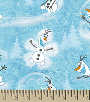 Disney Frozen Cotton Fabric -Olaf, , hi-res
