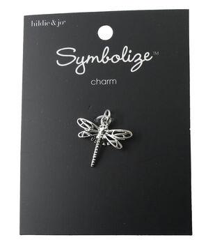 hildie & jo Symbolize Dragonfly Silver Charm