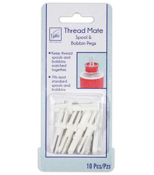 June Tailor Thread Mates 10 pk Spool & Bobbin Storage Pegs
