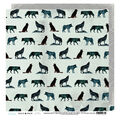 Heidi Swapp Wolf Pack Double Sided Cardstock-Wolves & Diamonds 25pk