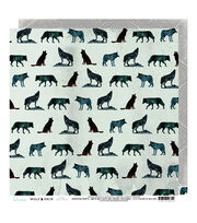 Heidi Swapp Wolf Pack Double Sided Cardstock-Wolves & Diamonds, , hi-res