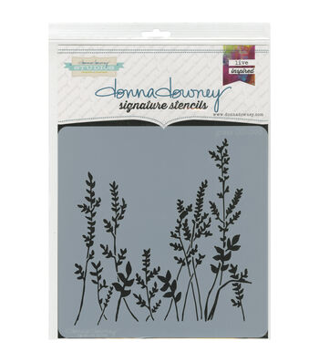 Donna Downey Signature 8''x8'' Stencil-Grass