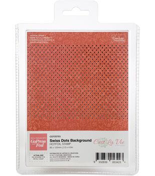 Couture Creations C'est La Vie Hotfoil Stamp-Swiss Dots Background