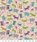 Snuggle Flannel Fabric -Meow Prrrr