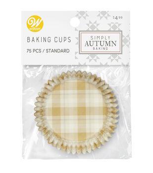 Wilton Simply Autumn Baking Cups-Plaid