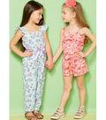 Kwik Sew Pattern K0233 Girls\u0027 Ruffled Jumpsuit, Romper & Sash-Size XXS-L