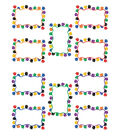 Colorful Paw Prints Blank Card Accent 30/pk, Set of 6 Packs