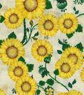 Harvest Cotton Fabric 43\u0022-Sunflower Patch