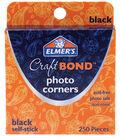 Elmer\u0027s Photo Corners -Black Self-Stick 250/Pkg