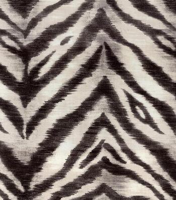 """Waverly Upholstery Fabric 54""""-Tigress/Zinc"""