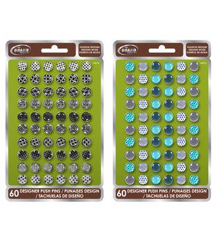 60Ct Push Pins Designer