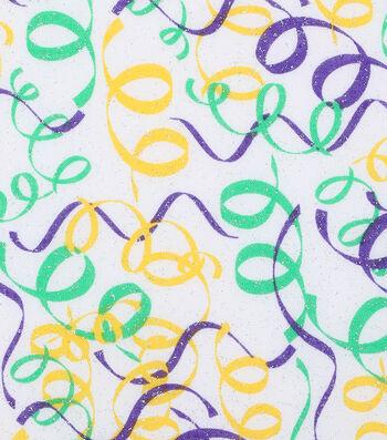 Mardi Gras Cotton Fabric-Confetti Glitter
