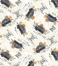 Novelty Cotton Fabric-Home Is Where I Rome