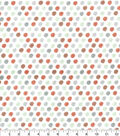 Nursery Flannel Fabric-Woodland Dots