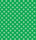 Girl Scout Cotton Fabric 43\u0022-Green Trefoil