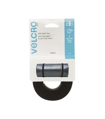 VELCRO Brand ONE-WRAP Roll 12ft x 3/4in, black