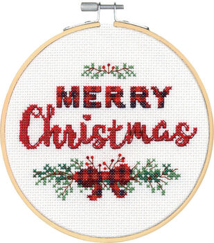 Dimensions Counted Cross Stitch Kit-Merry Christmas Large
