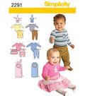Simplicity Pattern 2291A Xxs-Xs-S-M-Simplicity Babies