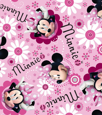 Disney® Minnie Satin Fabric 57''-Face Toss