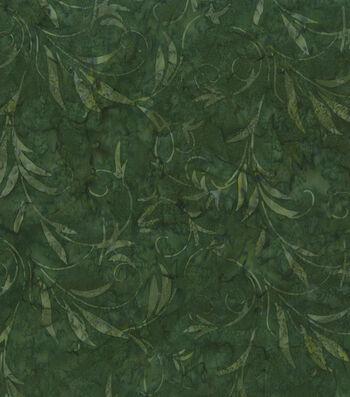 Batik Cotton Fabric-Batik Green Leaves