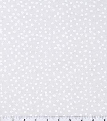 Keepsake Calico Cotton Fabric 44''-White Irregular Dots on White