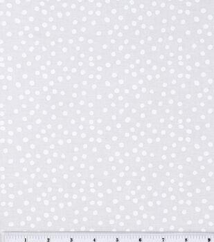 Keepsake Calico Cotton Fabric -White Irregular Dots on White