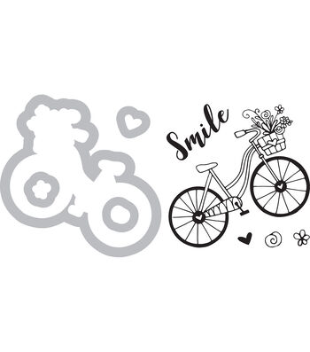 Sizzix Framelits Katelyn Lizardi Die & Stamp Set-Bicycle