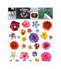 Textil Transfer Fabric Iron-Ons 7.75\u0022X7.75\u0022-Isolated Flowers