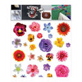 Decorprint Textil Transfer Fabric Iron-on Sheet-Isolated Flowers