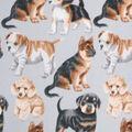 Anti-Pill Plush Fleece Fabric-Realistic Pups