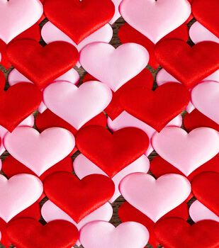 Valentine's Day Cotton Fabric-Photoreal Card Hearts