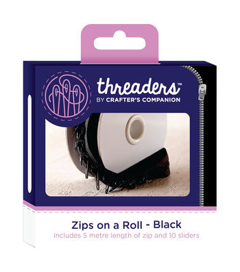 Threaders Zips on a Roll-Black