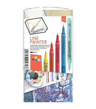 Derwent Graphik 5 Piece Line Painter Set-Bright