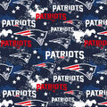 New England Patriots Cotton Fabric-Distressed