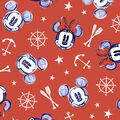 Disney Mickey & Minnie Mouse Cotton Fabric -Nautical Aye Aye