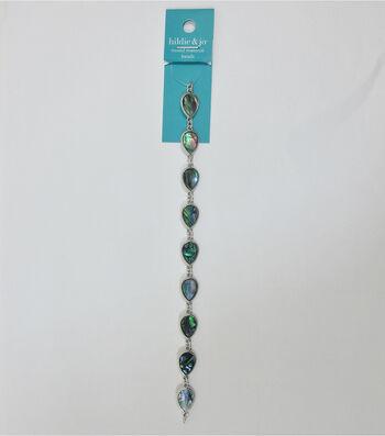 hildie & jo 7'' Teardrop Shell & Metal Strung Beads