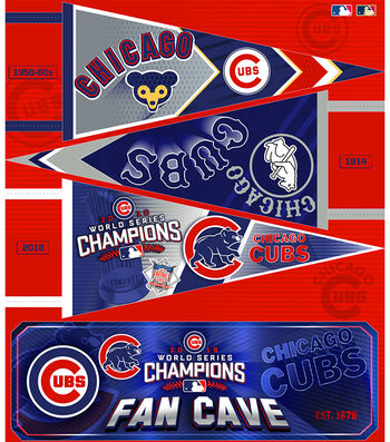 "Chicago Cubs Felt Panel 36""-Pennant"