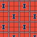 University of Illinois Fighting Illini Flannel Fabric 42\u0022-Plaid