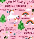 Snuggle Flannel Fabric -Guide to Unicorns