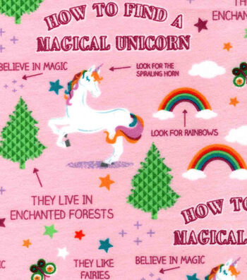 Snuggle Flannel Fabric 42''-Guide to Unicorns