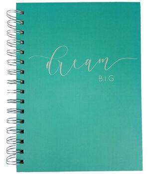 Park Lane 7.5''x9.5'' Spiral Notebook-Dream Big