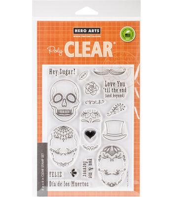 Hero Arts 16 pk Clear Stamps-Sugar Skulls