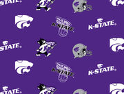 Kansas State University Wildcats Cotton Fabric -All Over, , hi-res