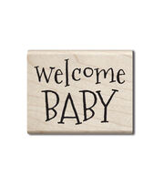 Hampton Art Wood Stamp-Welcome Baby, , hi-res
