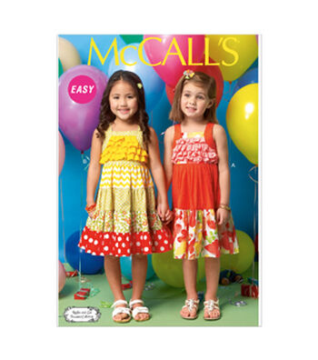McCall's Pattern- M7144-CB0 Toddlers' & Children's Dresses-1-2-3