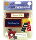 Craft Essentials Red, White & Blue Embellishment