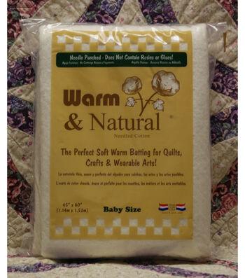 The Warm Company Warm & Natural Cotton Needled Batting 45''x60''