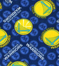 Golden State Warriors Fleece Fabric -Logo Toss