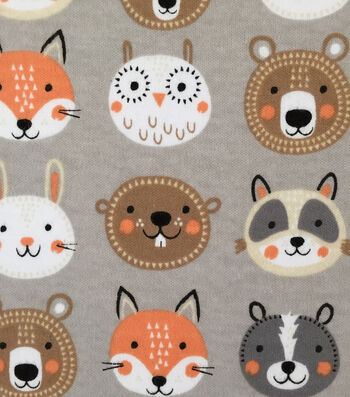 "Doodles Cotton Fabric 57""-Forest Friends"